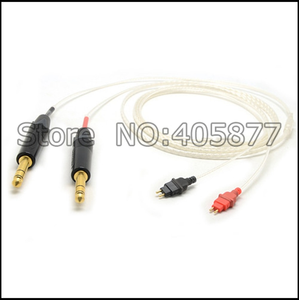Free shipping 5N OFC copper Silver Plated Cable For HD650 HD600 HD580 HD525 HD565 Headphone cable free shipping 4pin balanced diy 5n pure copper plated headphone upgrade cable for hd580 hd600 hd650