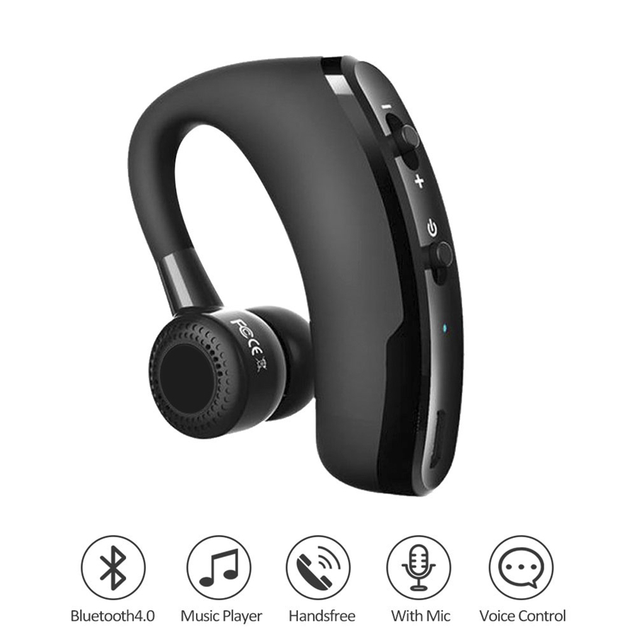 Mini Business Wireless Bluetooth Headset Handsfree Noise Cancelling Sport Driver with mic voice control Music Earbud for Iphone ovleng s77 wireless stereo headphone bluetooth headset foldable handsfree noise cancelling mic for iphone 7 plus galaxy htc sony