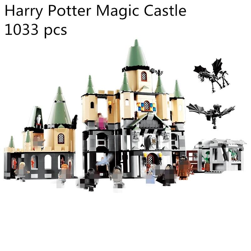 1033 pcs Compatible with lego 5378 Harry Potter Bricks Magic Hogwort Castle Set Children Educational Building Blocks Kids Toys kids plastic building blocks set educational toys bricks parts compatible with lego diy toys for children 2x8 dots 20pcs lot