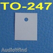 50 шт./лот) TO-247 транзистор силиконовый изолятор, изоляционный лист