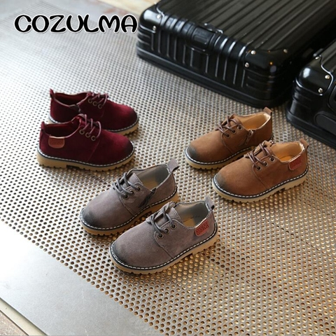 COZULMA Boys Girls Sneakers Lace up Leather Kids Fashion Sneakers Children Shoes Boys Girls Shoes Kids Sport Shoes Size 21-36 Islamabad