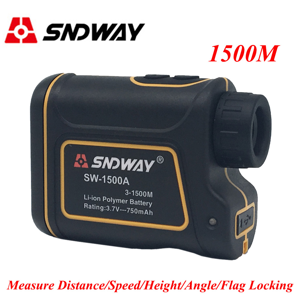 Sndway Laser Rangefinder 600/1000/1500M Laser Distance Meter 7X Monocular Telescope Golf hunting laser meter tape Measure tool