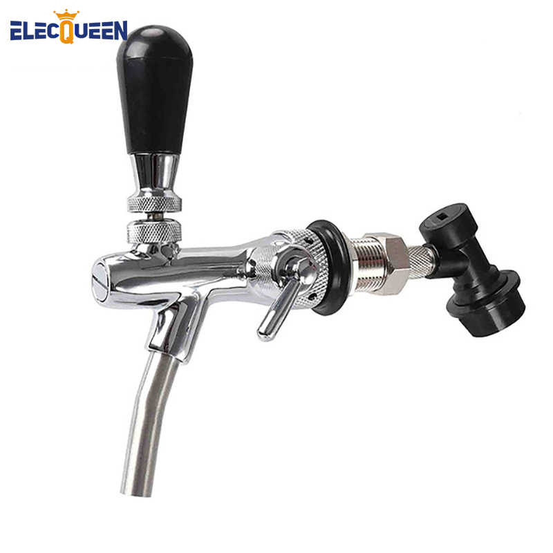 Beer Tap Faucet & Adjustable Faucet With Chrome Plating, Beer Homebrewing Tap With Ball Lock