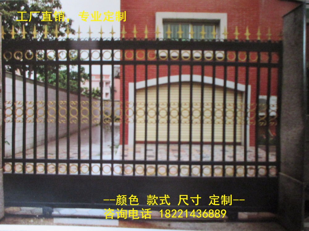 Custom Made Wrought Iron Gates Designs Whole Sale Wrought Iron Gates Metal Gates Steel Gates Hc-g67