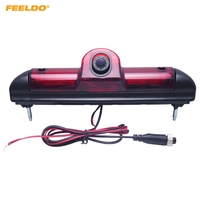 FEELDO 1Set Car LED Brake Light IR Rear View Reversing/Parking Camera For Fait Ducato/Peugeot Boxer/Citroen Jumper