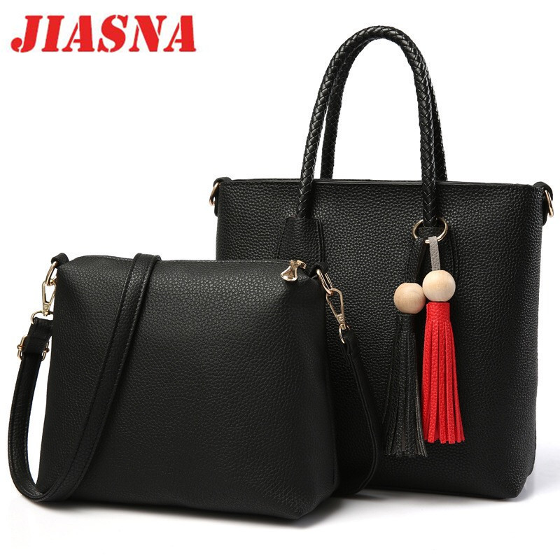 JIASNA Fashion Female Package Women's Handbags and Crossbody Bags Single Shoulder Bag Buy One Get Two Soft PU Material