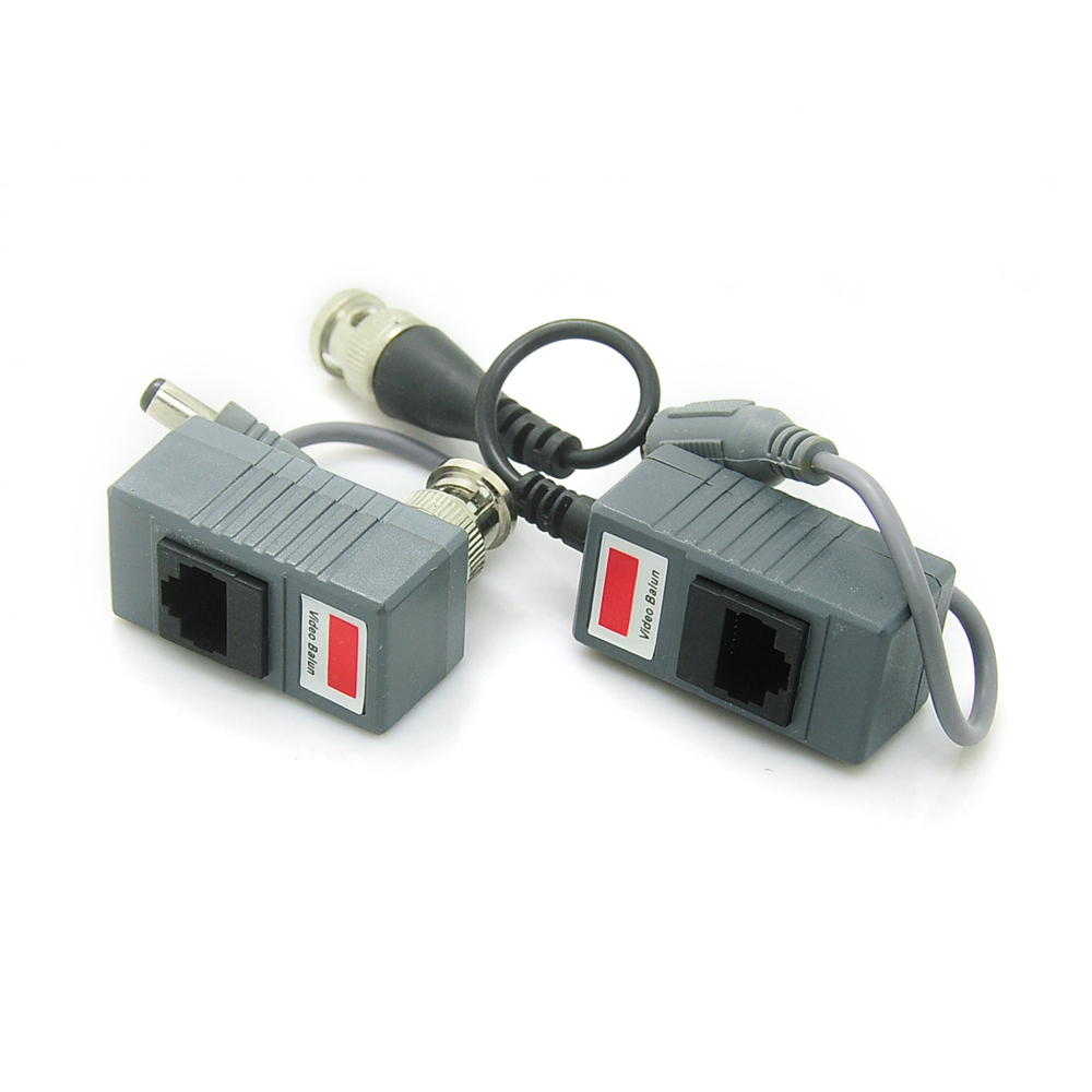 Купить со скидкой RJ45 Transceiver UTP Balun BNC Video DC Power Twisted Pair CAT5 For CCTV