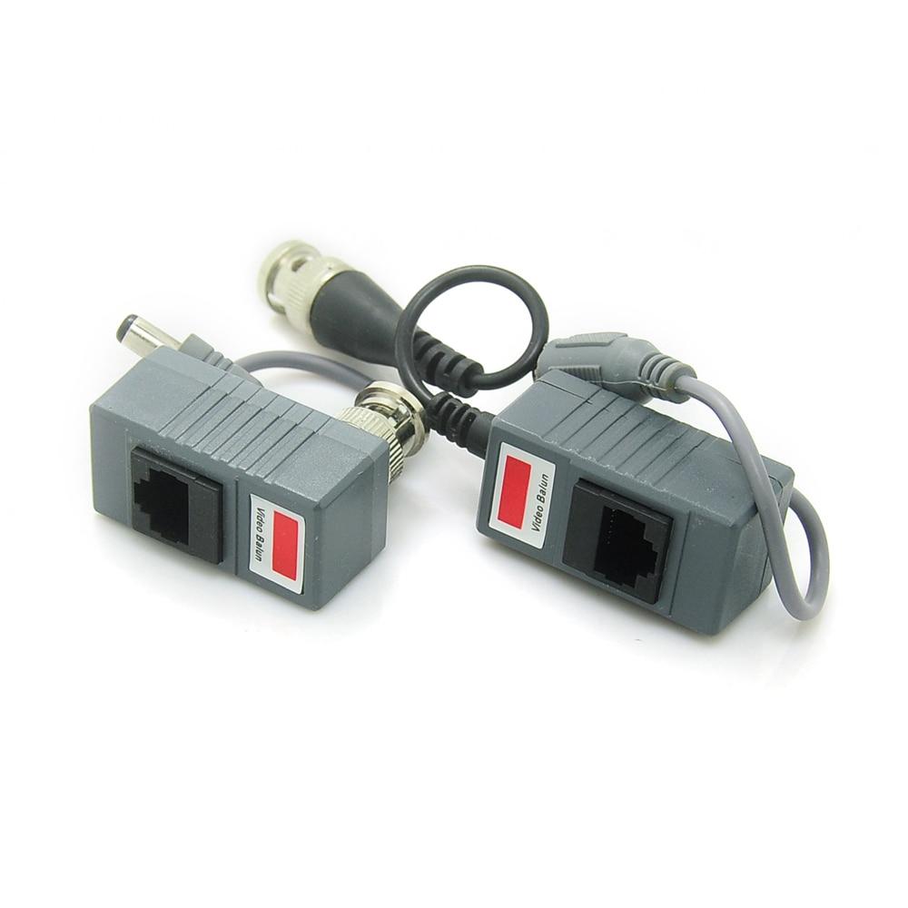 RJ45 Transceiver UTP Balun BNC Video DC Power Twisted Pair CAT5 For CCTV