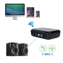 Bluetooth 4.1 Music Receiver,NFC-enabled,3.5MM/RCA Stereo Output,Bluetooth Audio Receiver Adapter for Home Sound System