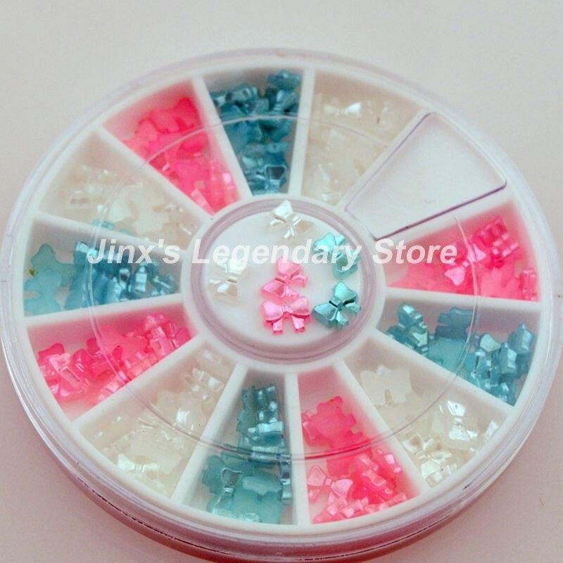 High Quality Super Deal 3D flash differce colour Cute style nail art Decoration DIY wheel JSL8011