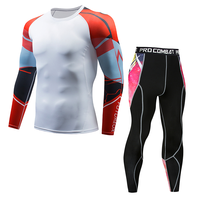 High Quality New Thermal Underwear Men's Underwear Set Compression Fleece Sweat Quick-drying Thermal Underwear Men's Clothing