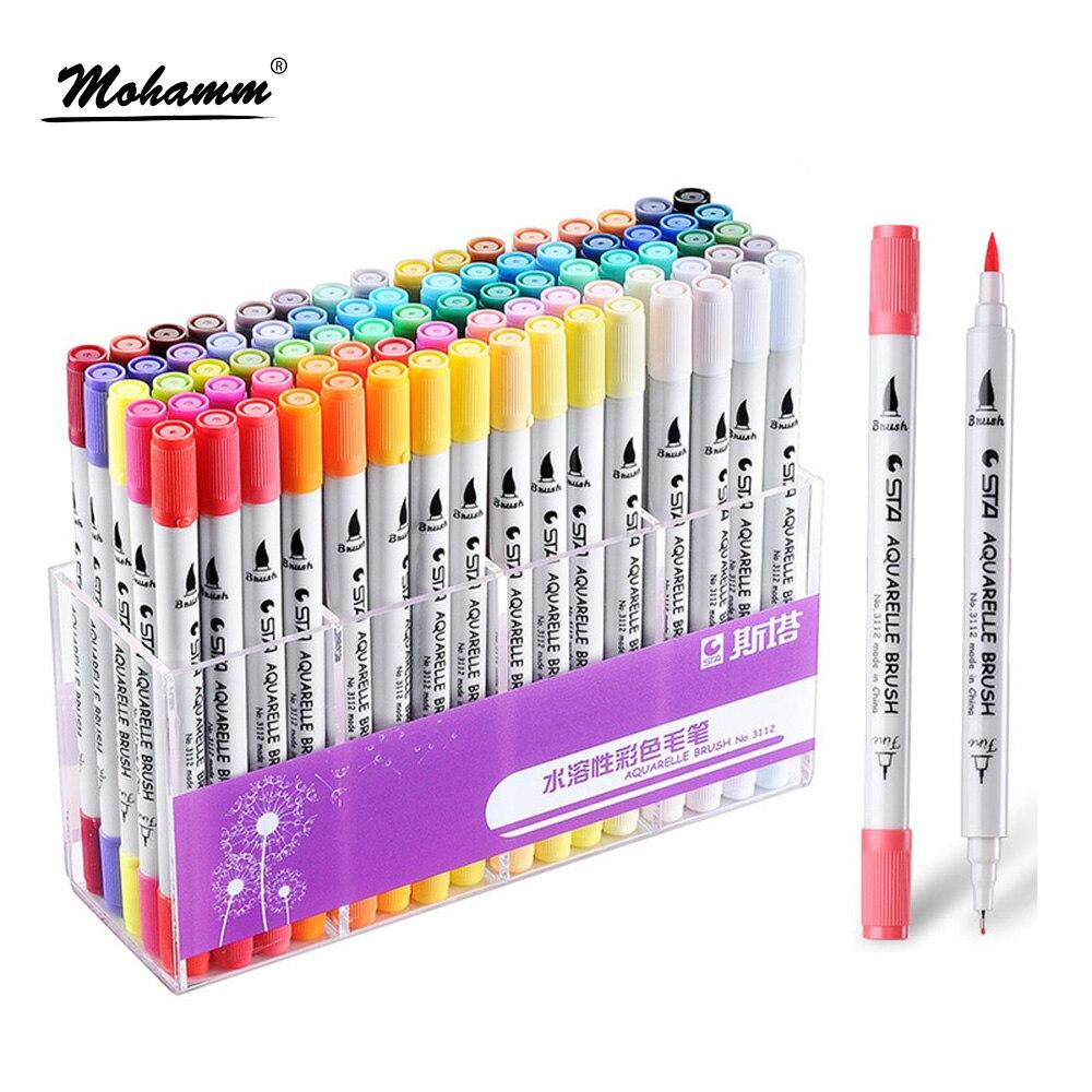 Ohuhu 80 Colores Doble consejos Bocetos de Arte Marcador Doble Plumas Rotuladores 80 Colores