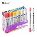 STA 12/24/36/48/80colors Aquarelle Coloring Brush Pen 0.4mm Fineliner Micron Needle Tip Soluble Watercolor Ink Art Marker Pen