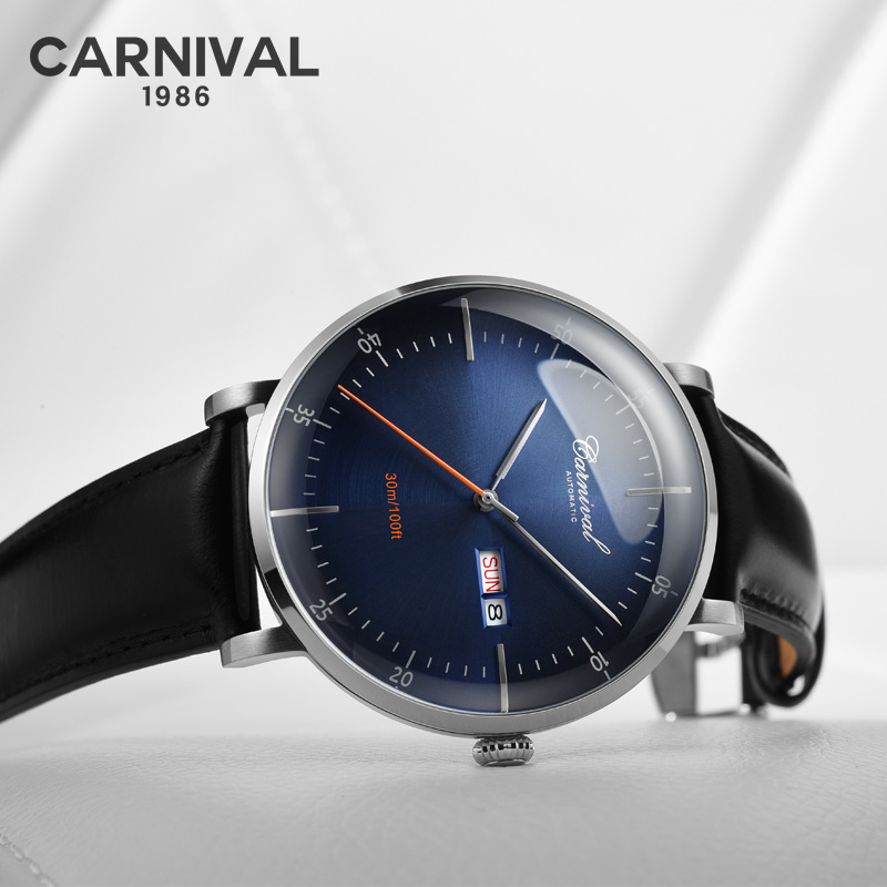 Original CARNIVAL fashion mens watch top brand multi-function automatic watch mens week calendar waterproof mechanical watchOriginal CARNIVAL fashion mens watch top brand multi-function automatic watch mens week calendar waterproof mechanical watch