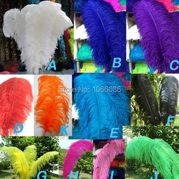 """EMS Free Shipping! 50pcs/lot 60-65cm 24-26"""" Top quality Orange ostrich feathers ostrich plumages plumes"""