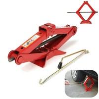 Useful 1 8T Red Heavy Duty Scissor Manual Car Jack Tyre Wheel Replacemet Tool Quick Lift