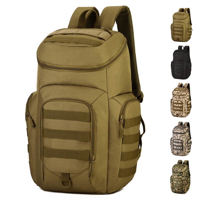 3ceeee7159a 40L Army Fans Outdoor Tactical Backpack With Shoes Compartment Men Women  Camo Military Backpack Hiking Camping Rucksack S420