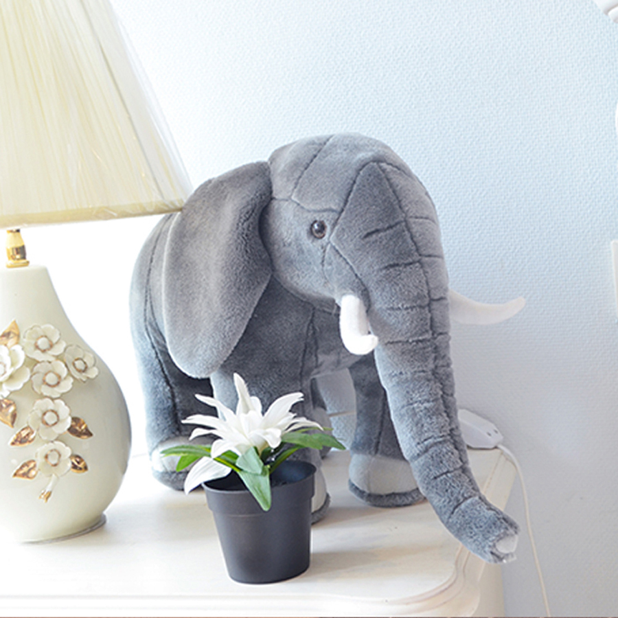 Cute Animal Soft Elephant Plush Toys Doll Stuffed Kids Cushion Brinquedos Menina Big Elephant Pillow Oyuncak Bebek Toy 70G0296 cute 45cm stuffed soft plush penguin toys stuffed animals doll soft sleep pillow cushion for gift birthady party gift baby toy