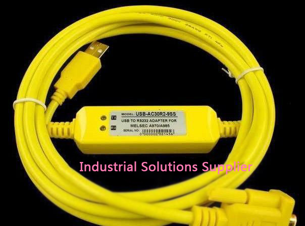 New Delta plc programming cable USBACAB230 usb-dvp yellow second generation win7 professional integrity plc programming cable usb fbs seconds