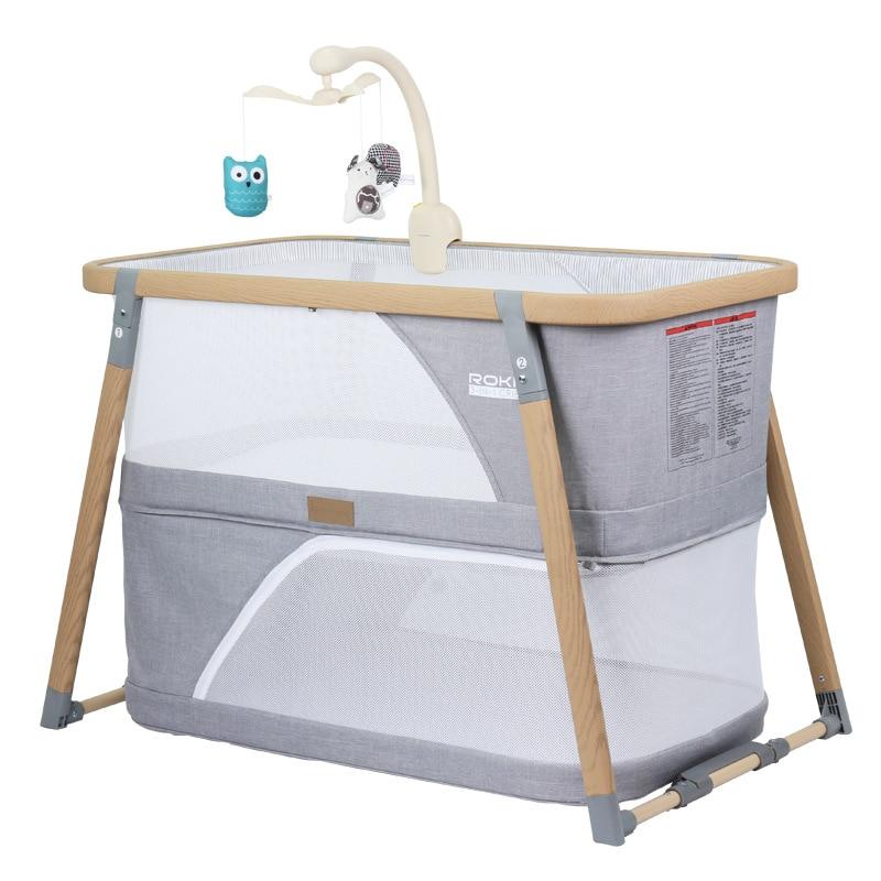 American Kinderwagon Portable Folding Crib Multifunctional Newborn Mosquito Net Game Bed Cradle Bed Baby Sleeping Bed 0-24M