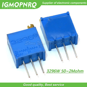 10Pcs/lot 3296W series 3296W 103 10K ohm Top regulation Multiturn Trimmer Potentiometer 1K 2K 5K 20K 50K 100K 200K 3296W-1-103LF