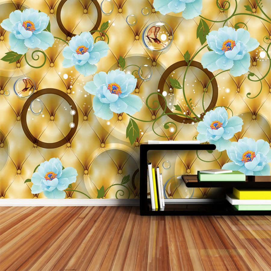 Murals Photo Wallpaper For Walls In Rolls 3d On The Wall Wallpapers Paper Home Decor 3 D Living Room European Luxury Floral Art