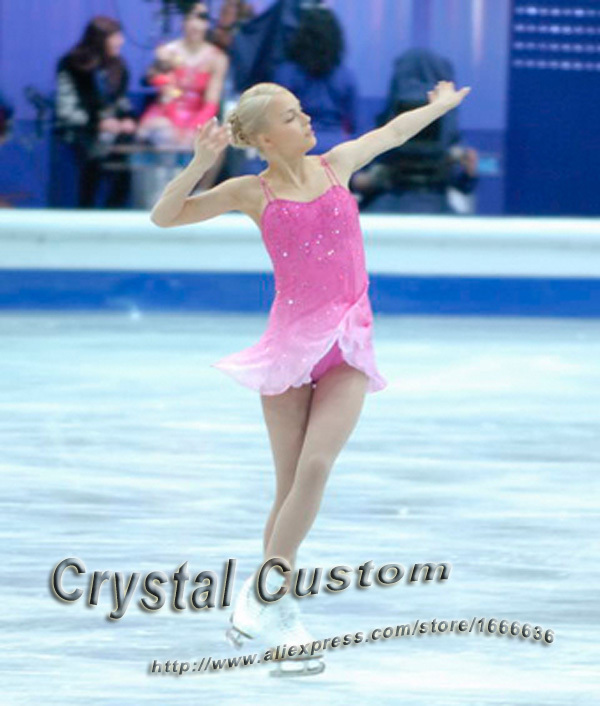 Hot Sales Custom Child Ice Skating Competition Dress Beautiful New Brand Vogue Figure Skating Dresses DR2813