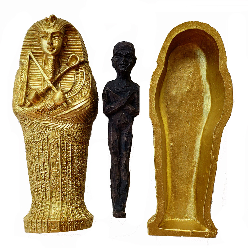 1pcs Resin Ancient Egyptian Coffin Figurine Sculpture Egypt Mummy Statue Small Ornaments Miniature Model Fish Tank Decoration9
