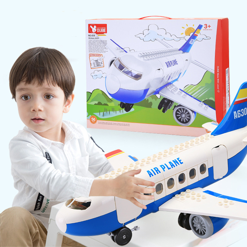 63 pièces bricolage 57cm grand Airbus avion Airplanem modèle avion blocs de construction ensembles enfants garçons cadeaux briques jouets
