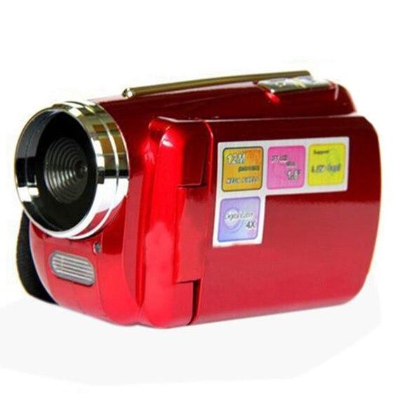 12MP Мини Digital Video Камера видеокамера 1.8 TFT ЖК-дисплей 4xzoom ТВ out функции красный