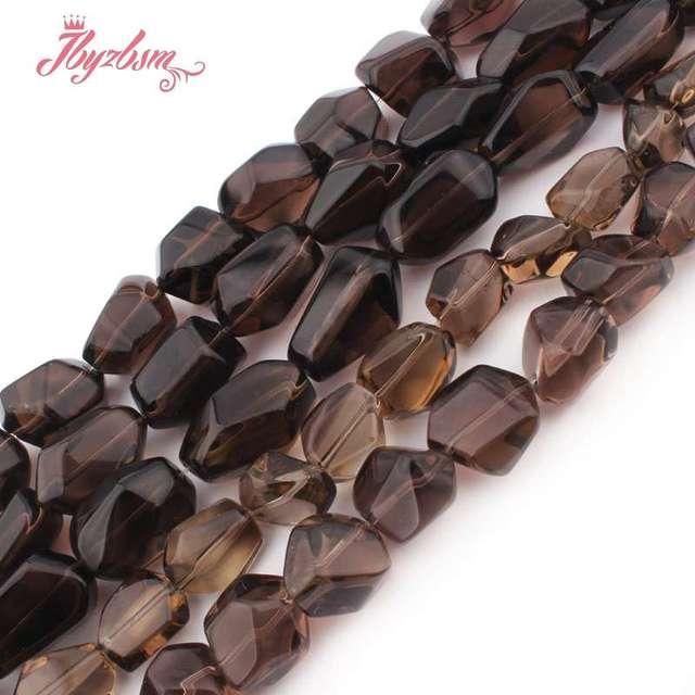 "12x16 15x20 13x20 15x25mm Freeform Smokys Quartz Bead Natural Stone Beads For Necklace Bracelat Jewelry Making 15"" Free Shipping"