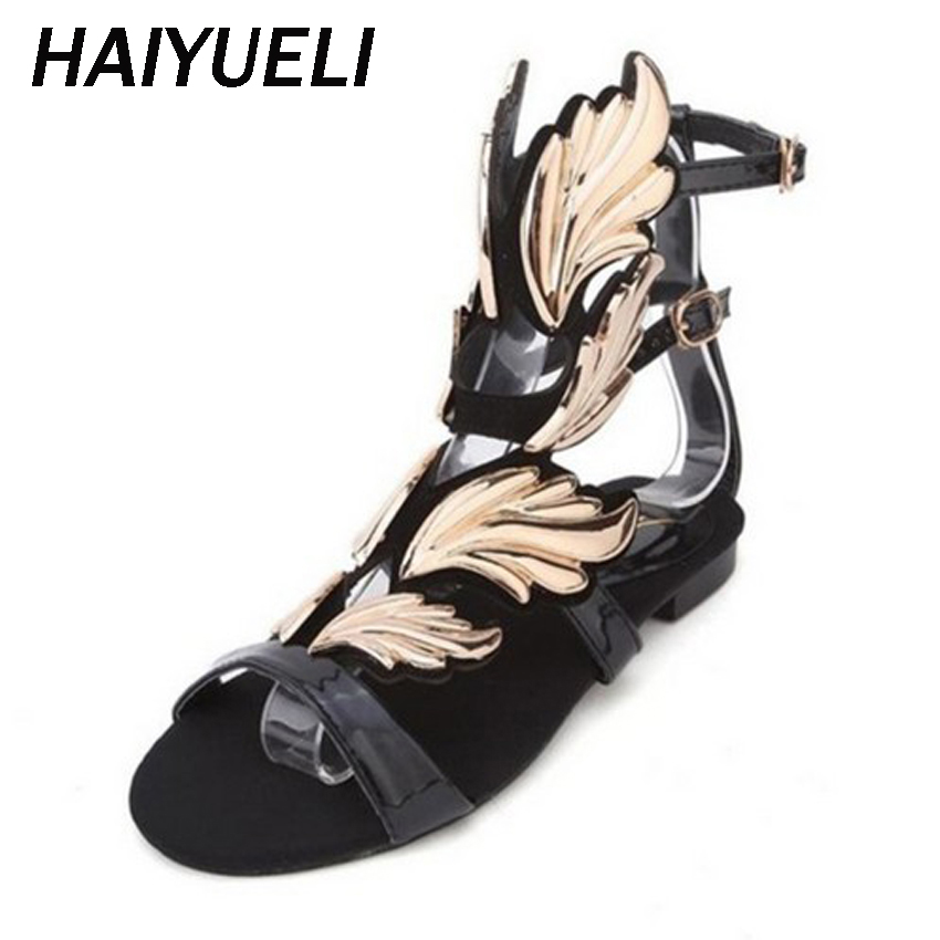 3d340288140f ᗜ Ljഃ Buy gladiator sandals women winged sandal and get free ...