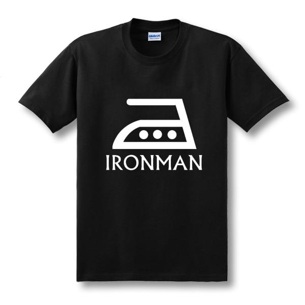 2018 Hot Funny New Fashion Im Ironman Superhero Spoof T Shirt men Fashion Custom Pattern cotton man T-shirt casual Mens clothing