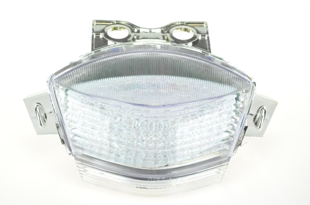 Светодиодный Встроенный задний фонарь поворотник для KAWASAKI NINJA 650R 06-07/ER-6 06-08 - Цвет: Прозрачный