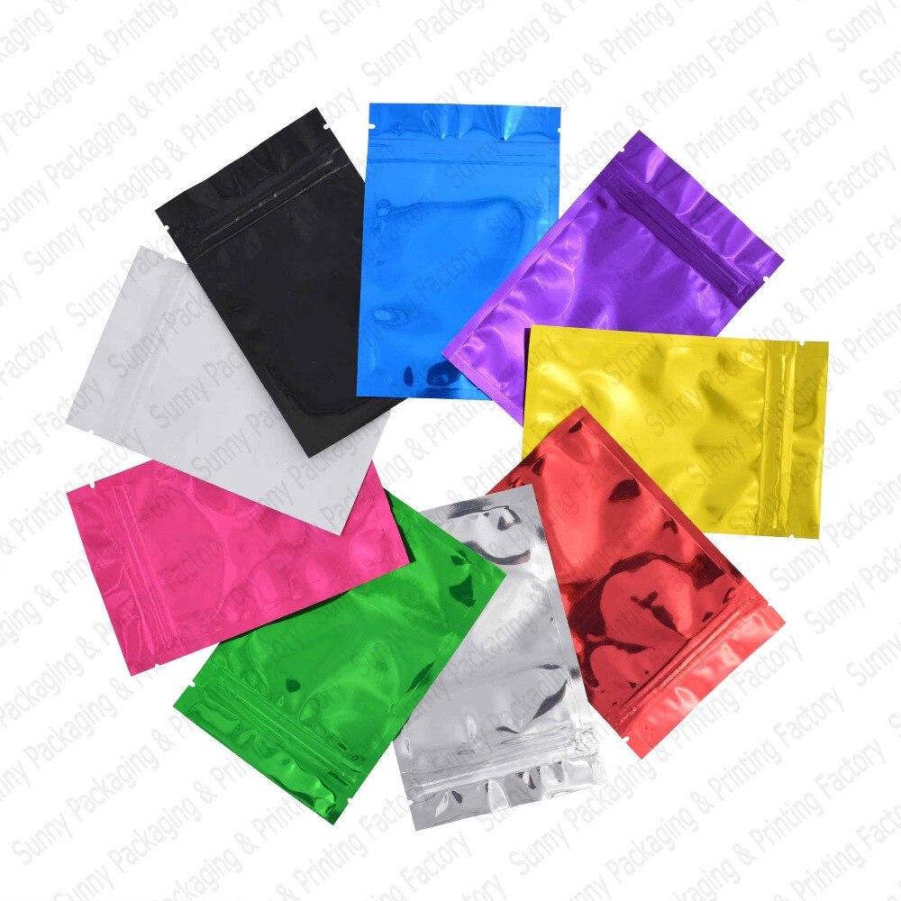 18*26 см (7,1 ''* 10,2'') Красочные верхние корма фольги на молнии мешки для еды, майларовая Алюминиевая фольга мешок, чайные пакетики для хранения пр