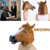 Creepy Horse Mask Head Halloween Costume Theater Prop Novelty Latex Rubber fedex free shipping 20 pcs/lot