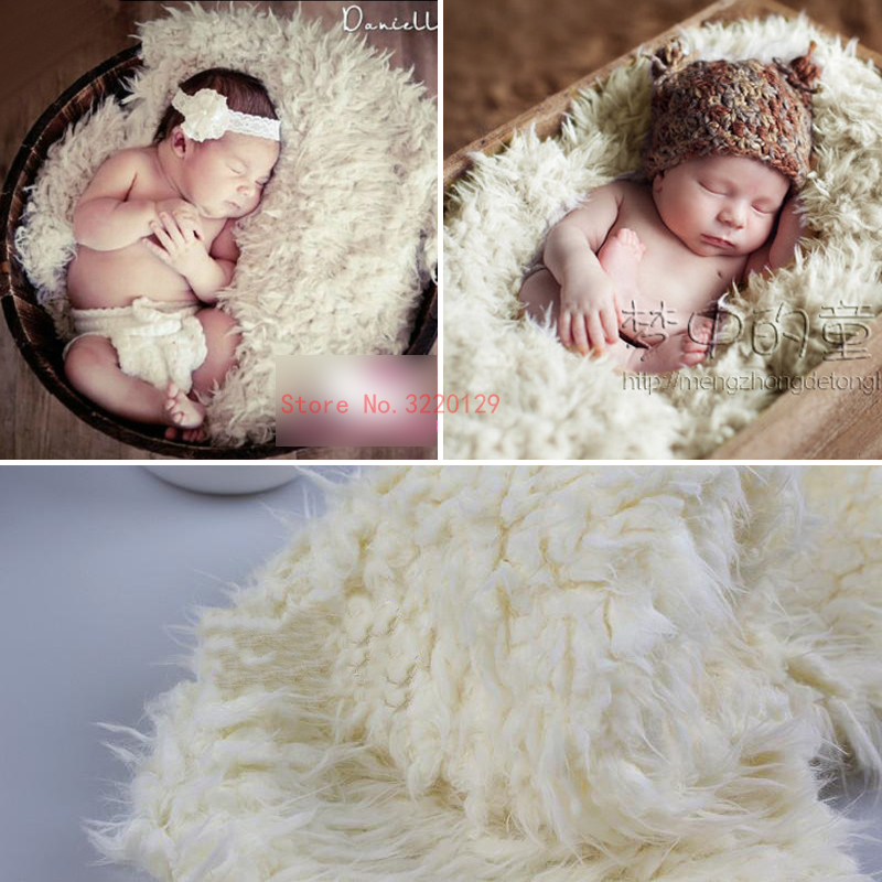 2018 New Wool Fur Blanket For Newborn Photography Props