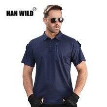 HAN WILD мужские походные рубашки для активного отдыха, походная футболка, Военная тактическая рубашка, Мужская камуфляжная рубашка для охоты, большие размеры