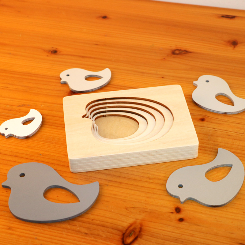 Dropshipping Animal Puzzles For Kids Toys Rabbit/Whale/Elephant Puzzle Enfant Wooden Toys Montessori Educational Gradation Gift 8