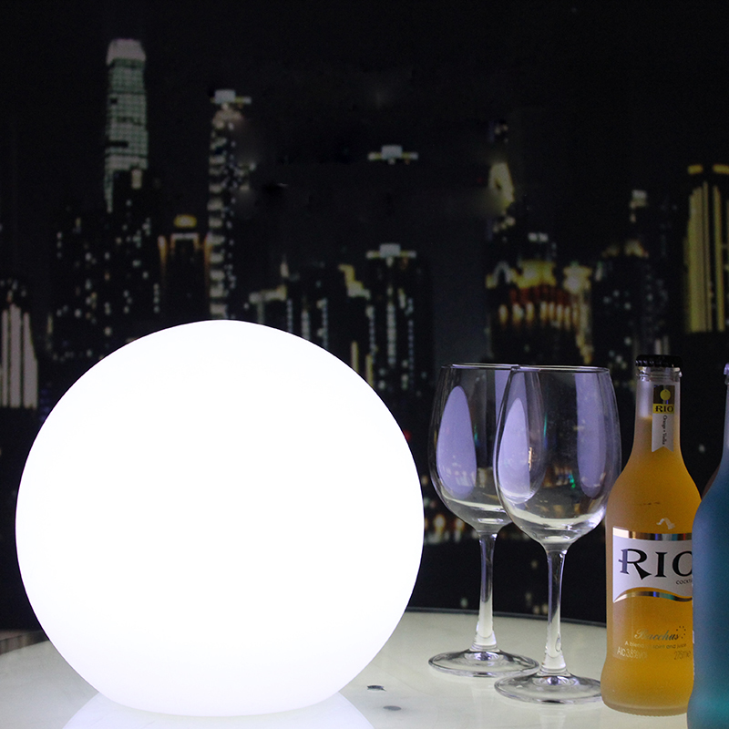 LED Rechargeable Ball Lamp Remote Control Table Night Lights Home Bar Christmas Party Desk Indoor Outdoor Garden Swimming Pool