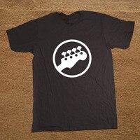 בס Headstock גיטרה סמל לוגו מוזיקאים נגן מוסיקה גיטריסט רוק מצחיק T גברים חולצת טי כותנה שרוול קצר חולצה