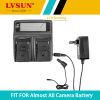 LVSUN Universal DC&Car Camera Battery Charger For Olympus BLS 5 E M10 E PL2 E PL5 E PL6 E PM2 Stylus 1 digital camera batteries