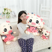 1Pc 30-60Cm 2 Style Christmas Day present lovely Strap dress pig plush toy soft pillow Kids birthday gift Fast Shipping