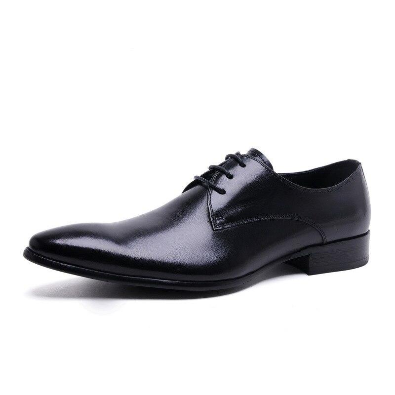 Hot Sale Big Size Men Dress Shoes 2018 New Fashion Casual Gentlemen Leather Shoes Formal Shoes Business Men Shoes JMH-B0055 italians gentlemen пиджак