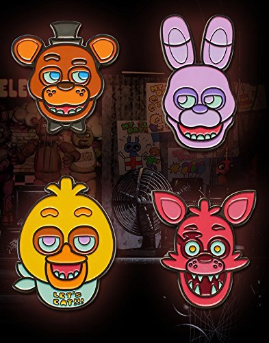 1pcs Five Nights at Freddy Collectible Face Pin Set Badge Armband Backpack Bag Accessories