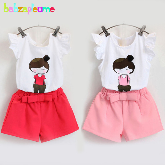 4dc596a758c3 2Piece 2 6Years Summer Baby Girls Outfits For Kids Clothes Cartoon ...