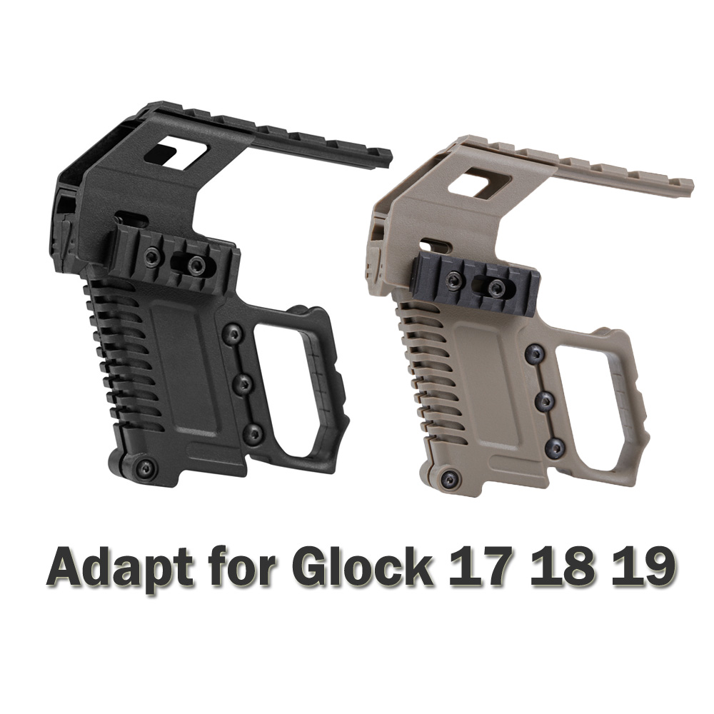 Tactical Pistol Carbine Kit Quick Reload For Glock G17 G18 G19 Series Gun Rail Base Mount Hunting Accessories