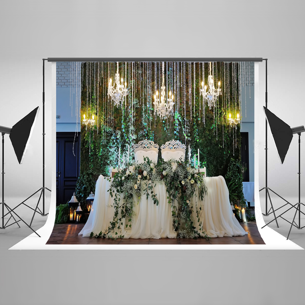 Kate 10x10ft Photography Background Wedding Party Light Flower Backgrounds For Photo Studio Cotton Washable Photo Backdrop