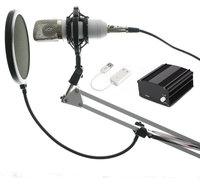 High Quality Professional 3 5mm Wired BM700 Condenser Sound Recording Microphone With Shock Mount For Radio