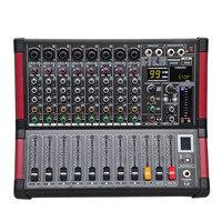 Freeboss MINI8 8 Каналы (моно) микшерный пульт с Bluetooth записи 99 DSP эффект USB Функция Профессиональное аудио микшер
